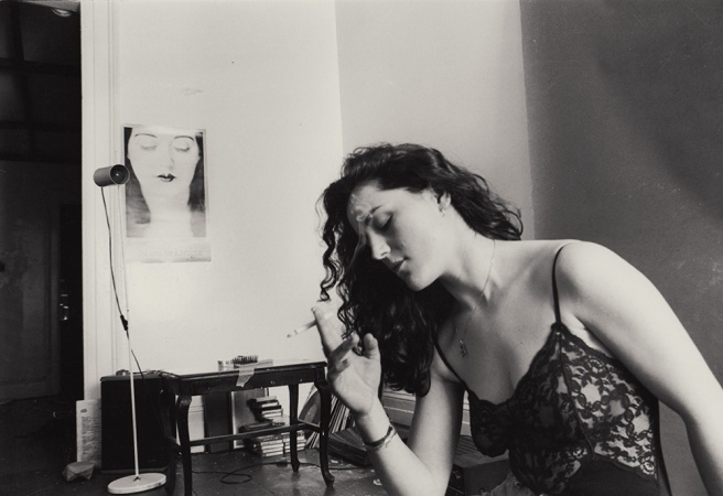 charlotte in a room, Brooklyn, 1990