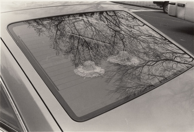 Hats in car, Mahatten, New York, 1990