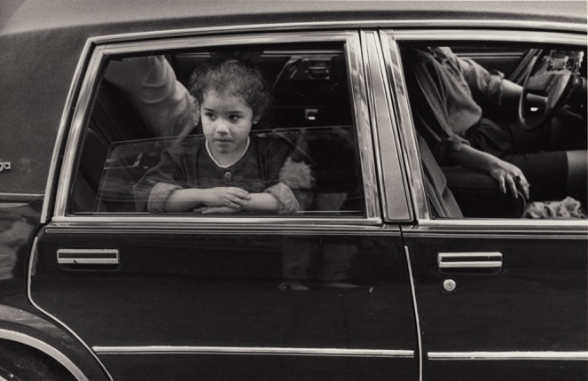 girl in car, Brooklyn 1987