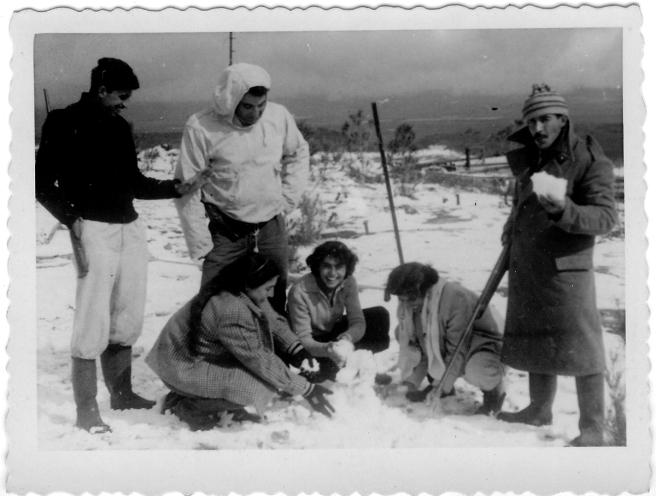 שלג במלכיה, 1950