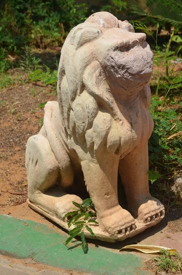 אחד האריות המקוריים בגינה, צילום: ורד נבון, 2018