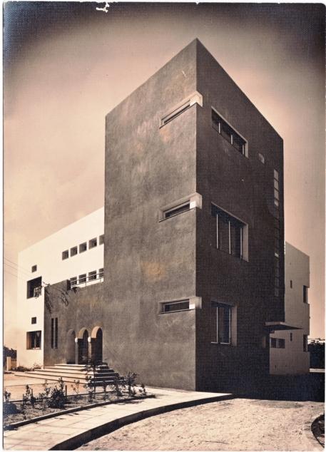 חזית קדמית, בית החולים דג׳אני, צילום: יצחק קלטר, 1933