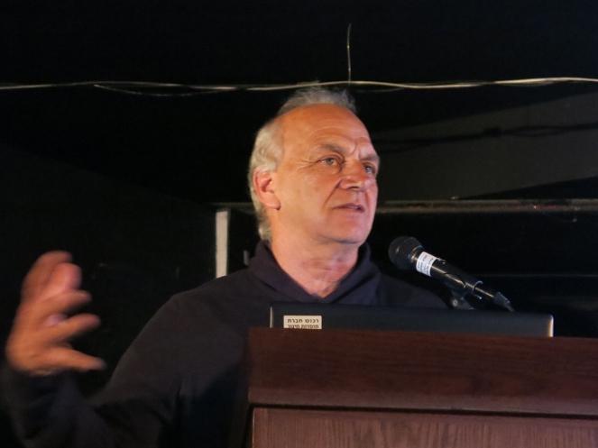 שמואל גרואג בערב השקת ספר ״השדרה״, צילום: איליה ליסננסקי